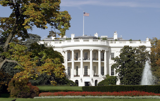 The White House is pictured in Washington D.C., two days ahead of the presidential election October 31, 2004. REUTERS/John Pryke JDP - RTRENUT